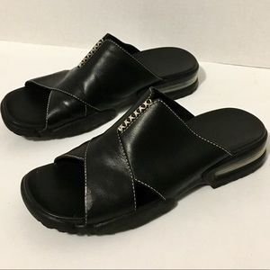 Cole Haan Country Black Leather Slides Womens 9